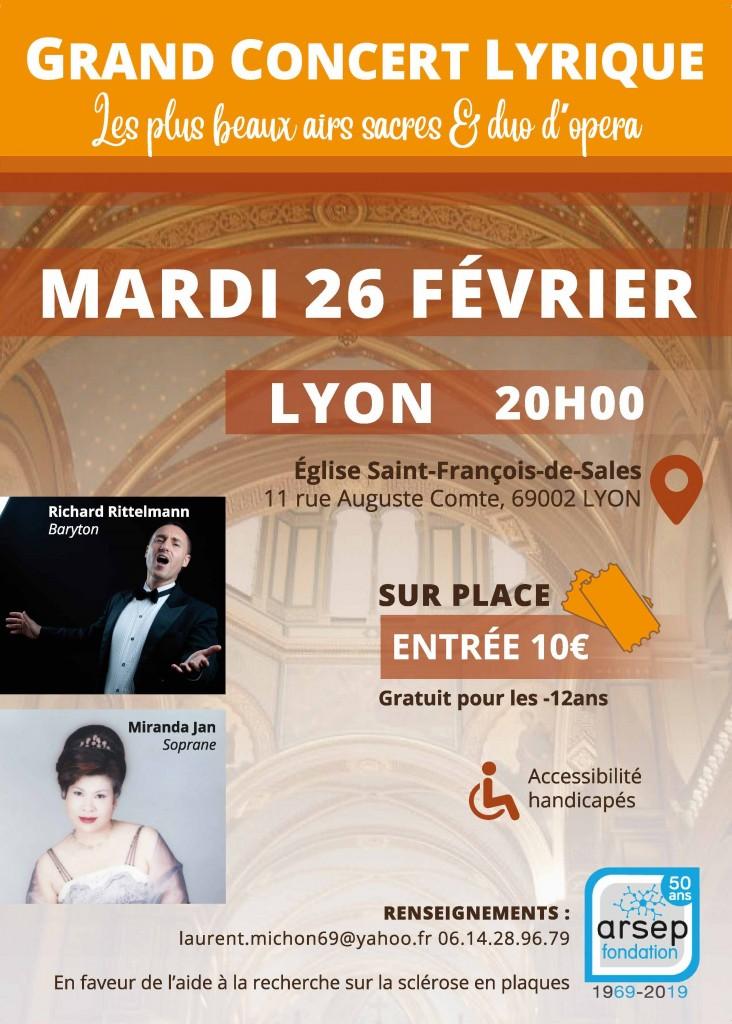Affiche Concert Lyon 69 - 26 février